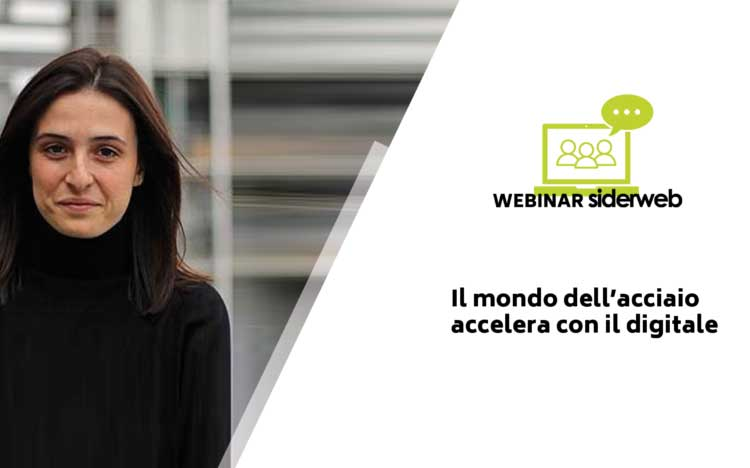 Vittoria Gozzi at siderweb's webinar on steel and digitization